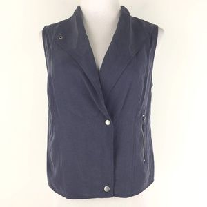 Banana Republic Size 6 Drapey Zip Vest